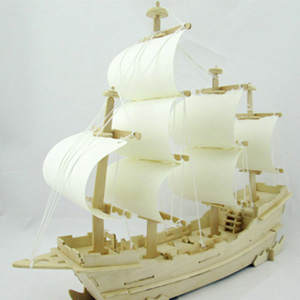 3D Wooden Sailboat Puzzle - $23 with FREE Shipping!