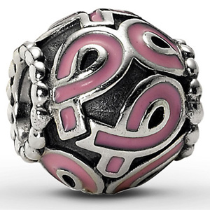 Pink and Silver Pandora Inspired Charm- $17 with Free Shipping