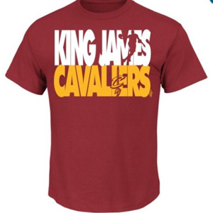 LeBron James - King James Cavaliers T-Shirt - $19 with FREE Shipping!