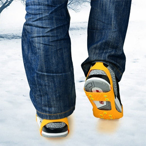 Over the Shoe Ice Cleats - $13 with FREE Shipping!