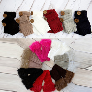 Fur or Knit Fingerless Gloves - $14 with FREE Shipping!
