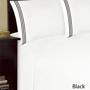 4-Piece Set: 1800 Series Triple Merrow Stitch Pillowcases and Bed Sheets- $35 with Free Shipping