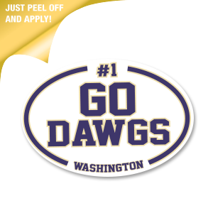 Go Dawgs! - White Oval Decal
