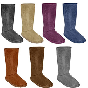 Women's 13 inch Microfiber Aussie-Style Boots- $36 with Free Shipping
