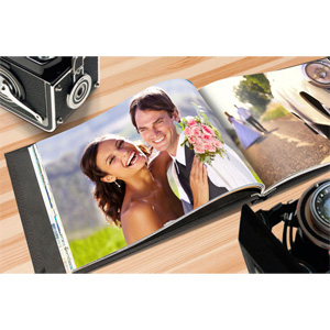 8.5 x 11 Leather Photo Book - $12.99!