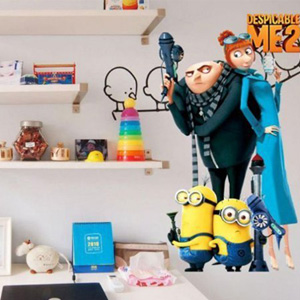 Despicable Me Inspired Wall Stickers - $10.50 with FREE Shipping!