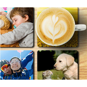 Set of Eight Photo Coasters - $14.99!