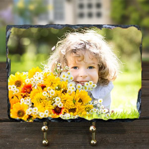 Custom Photo Print on 8X6 Stone Slate - $8.99