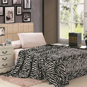Zebra Micro Plush Blanket- $35 with Free Shipping