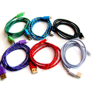 Woven Fabric Lightning Cable- $11 with Free Shipping