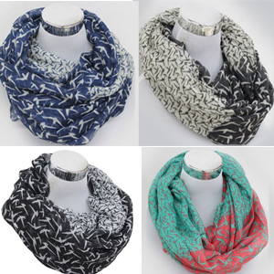 Two Tone Infinity Scarf - $14 with FREE Shipping!