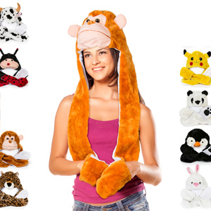 Animal Hat and Mitten Set - $15 with Free Shipping!