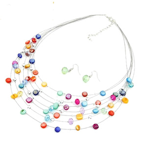 Multicolor Shell Design Multilayer Necklace- $17 with Free Shipping
