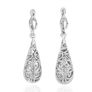Retro Drop Silver Plated Earrings  - $18 with FREE Shipping!