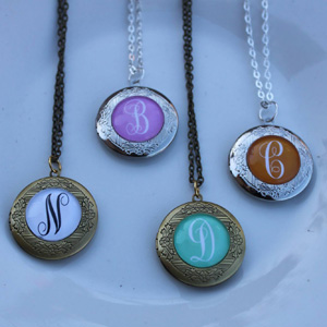 Personalized Initial Locket Necklace- $12 with Free Shipping