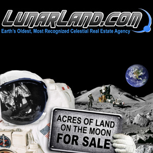 Land on the Moon Deed Premium Package with Lunar Atlas - $30.00