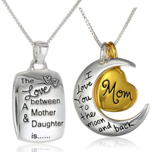 Mother Daughter Silver Plated Pendant Necklaces - $13 with FREE Shipping!