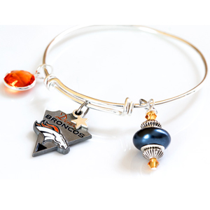 NFL Charm Expandable Wire Bracelet - $15 with FREE Shipping!