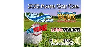 2015 HEARINC))) Player's Golf Card