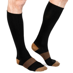 Mens Long Copper-Infused Pain Relief Compression Socks- $14.50 with Free Shipping