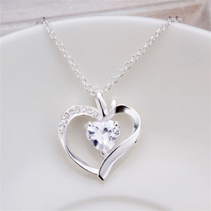 Silver Heart Pendant- $13 with Free Shipping