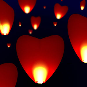 Heart Sky Lantern 10 Pack - $26 with FREE Shipping!