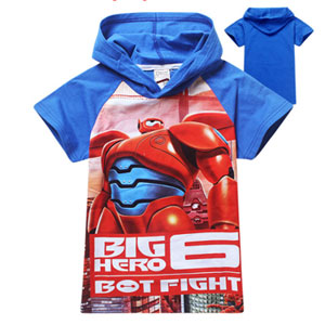Big Hero 6 Kid's Short Sleeve Hooded T-Shirt - $17.50 with FREE Shipping!