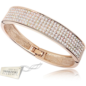 Crystal Journey Swarovski Elements Cuff Bracelet with Gift Box - $20 with FREE Shipping!