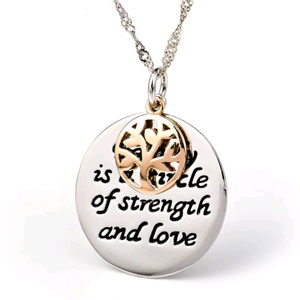 Family is a Circle of Strength & Love Silver Plated Necklace - $13 with FREE Shipping!