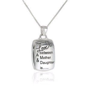 Love Between Mother & daughter Silver Plated Necklace - $13 with FREE Shipping!