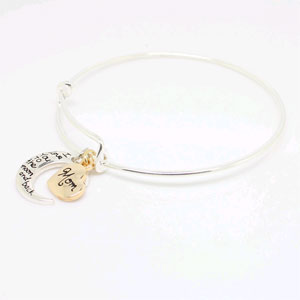 Mom, I Love You to the Moon & Back Silver Plated Bracelet - $13 with FREE Shipping!
