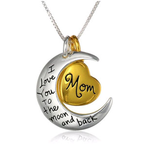 Mom, I Love You to the Moon & Back Silver Plated Pendant - $13 with FREE Shipping!