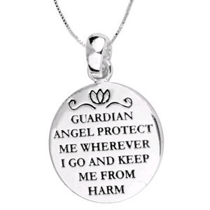 Guardian Angel Protect Me Wherever I Go Silver Plated Necklace - $13 with FREE Shipping!