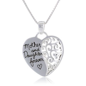 Mother and Daughter Forever Silver Plated Pendant Necklace - $13 with FREE Shipping!