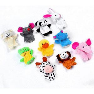 Set of 10 Animal Finger Puppets + Bonus 2 Pack of Character Egg Molds - $10 with FREE Shipping!
