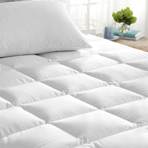 Super-Soft Hypo-Allergenic Down Alternative Mattress Topper- $65 with Free Shipping