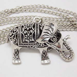 Elephant Retro Necklace - $14 with FREE Shipping!