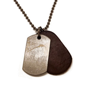 Vintage Antique Dog Tag Necklace - $15 with FREE Shipping!