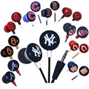 MLB Team Earbuds- $10.50 with Free Shipping