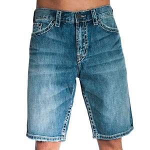 Men's Silver Denim Shorts- $21.50 with Free Shipping