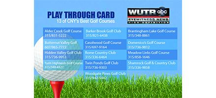 Golfer's Play Through Card 2015