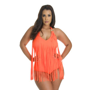 Plus Size Fringe One Piece Swimsuit - $24 with FREE Shipping!