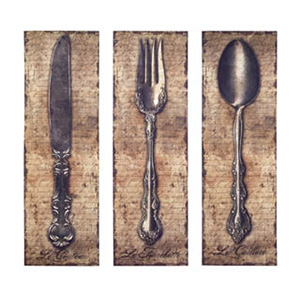 VINTAGE SILVERWARE CANVAS 3 ASSORTED - $60 with Free Shipping