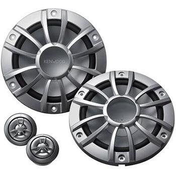 Sounds on Wheels - Kenwood KFC-P1603MRS 6.5-Inch 300 Watt Max power 2-Way Marine Component Speaker - 1 PAIR