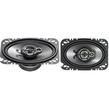 Sounds on Wheels - Clarion SRG4633C 4 X 6 Inches Custom Fit Multiaxial 3-Way Speaker System - Set of 2