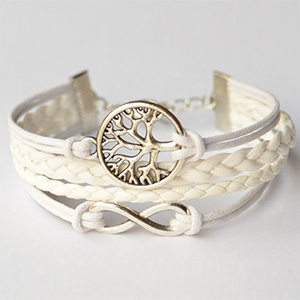 Faith Bracelet - Silver Wishing Tree, Infinity Charm, Multiple Strand - $10.00 with FREE Shipping!