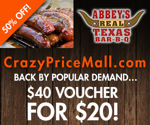 Abbey's Real Texas BBQ voucher