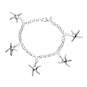 Lexi Starfish Charm bracelet 925 Sterling Silver Plated - $17.00 with FREE Shipping!