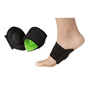 Cushioned Plantar Fasciitis Foot Arch Supports (2-Pack) - $9.99 with FREE Shipping!