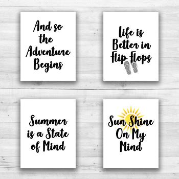 Summer Wall Prints - 8  x 10  Frame Ready Prints